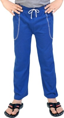 Be 13 Solid Boy's Blue Track Pants