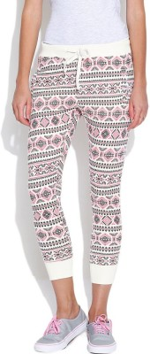 Silly People Printed Women's White Track Pants