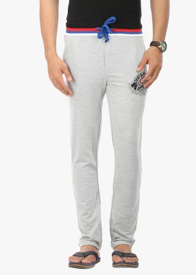 Wear Your Mind Graphic Print Men's Grey Track Pants