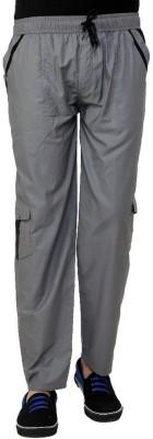 Grand Bear Regular Fit Solid Men's Grey Track Pants