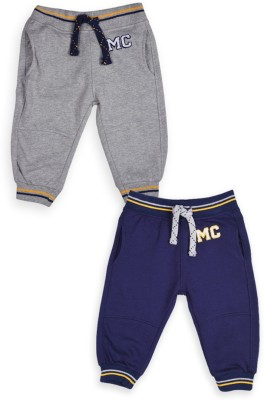 Mothercare Solid Boy's Grey, Blue Track Pants