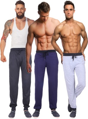 Billu Oye Solid Men's Grey, Black, Dark Blue Track Pants