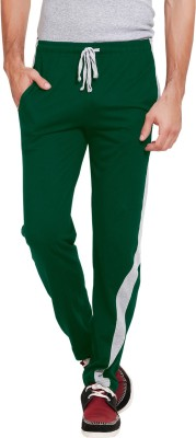 Softwear Self Design Men's Dark Green Track Pants