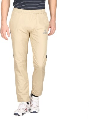 Attro Solid Men's Yellow Track Pants
