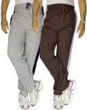 Bluedge Solid Men's Grey, Brown Track Pa...