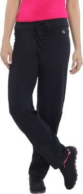 Macrowoman Lounge Solid Women's Black Track Pants