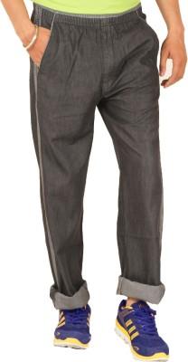 Sapper Solid Men's Denim Black Track Pants