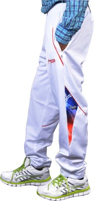 Troos Solid Men's White Track Pants