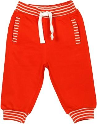 Mom & Me Solid Baby Boy's Orange Track Pants