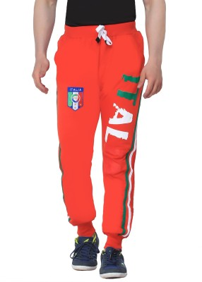 Body Tantrum Printed Men,s Red Track Pants
