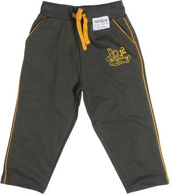Mini Klub Solid Baby Boys Black Track Pants