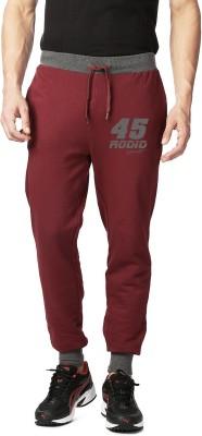Rodid Solid Men's Maroon Track Pants