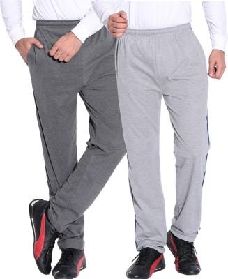Fizzaro Solid Men's Grey Track Pants