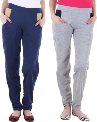 Coaster Solid Women's Blue, Grey Track Pants