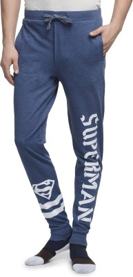 Superman Printed Men's Blue Track Pants