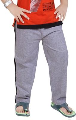 Mint Solid Boy's Grey, Black Track Pants