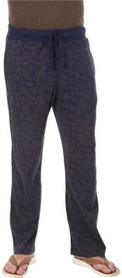 Zobello Printed Men's Grey, Blue Track Pants
