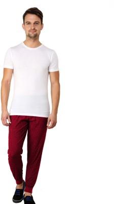 Lemon & Vodka Printed Men's Red Track Pants