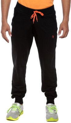 Sports 52 Wear Solid Men's Black, Orange Track Pants