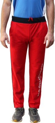 Fitz Solid Men's Red Track Pants