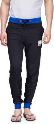TSX Solid Men's Black Track Pants