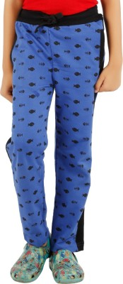 ICE BOYS Printed Boy's Blue Track Pants