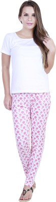 Eshelle Polka Print Women's Pink, White Track Pants