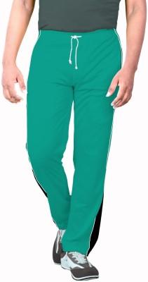 Sportee Solid Men's Light Green Track Pants