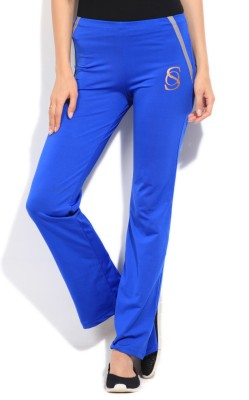 STYLE QUOTIENT BY NOI Solid Women's Blue Track Pants