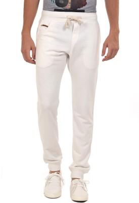 YOO Solid Men's White Track Pants