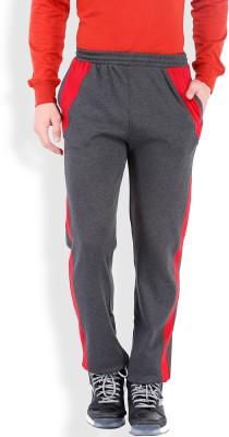 2go Solid Men's Grey, Red Track Pants