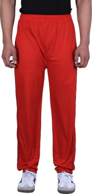 Ansh Fashion Wear Solid Men's Red Track Pants
