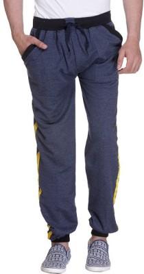 Grand Bear Striped Men's Blue Track Pants