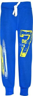 Gee & Bee Printed Boy's Blue Track Pants