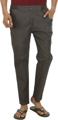 Leg-In Solid Men's Grey Track Pants