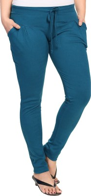 KuuKee Solid Women's Blue Track Pants