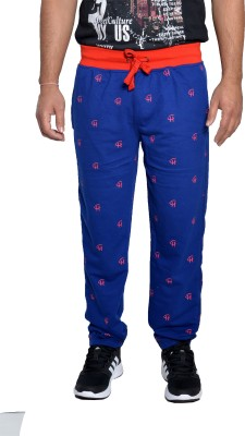 Gen Printed Men's Blue Track Pants
