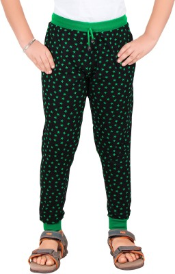 Red Ring Solid Boy's Black, Green Track Pants