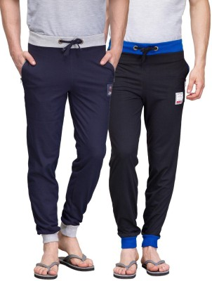 TSX Solid Men's Black, Blue Track Pants