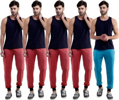 Dee Mannequin Self Design Men's Red, Red, Red, Red, Blue Track Pants