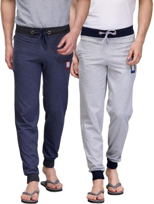 TSX Solid Men's Grey, Blue Track Pants