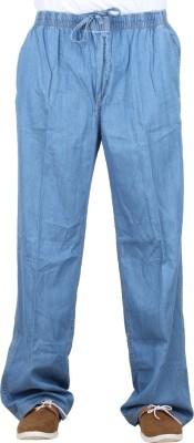 Sequeira Solid Men's Light Blue Track Pants