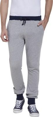 Slub Solid Men's Grey Track Pants