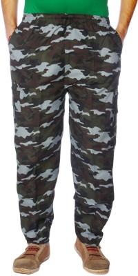 AADUKI Printed Men's Light Blue Track Pants