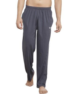 AJC Solid Men's Grey Track Pants