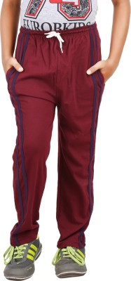 Meril Solid Boy's Red Track Pants