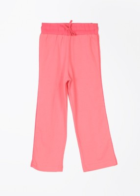 Day 2 Day Solid Girl's Pink Track Pants