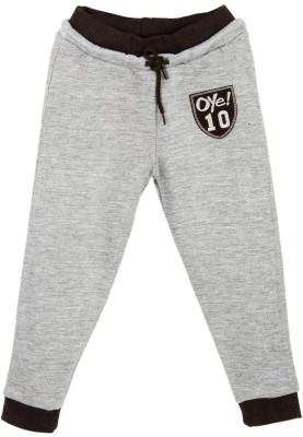 Oye Solid Girl's Grey Track Pants