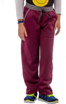 Bobjunior Solid Boy,s Maroon, Grey Track Pants