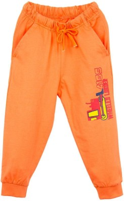 Oye Printed Baby Boy's Orange Track Pants